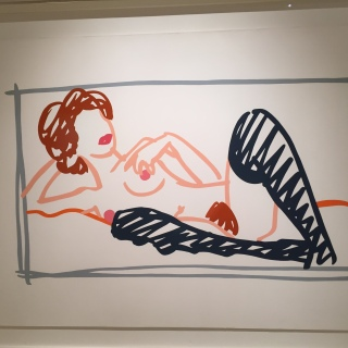 Tom Wesselmann - Fast Sketch Nude with Stockings