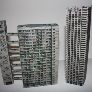 Balfron Tower and part of the Barbican Estate