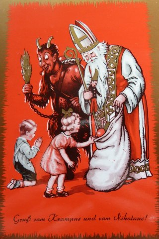 Krampus and St Nicolas