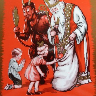 Krampus and St Nicolas