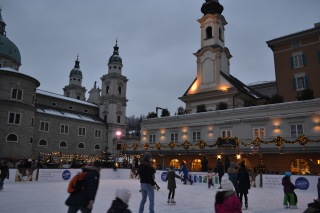 Ice Skating opposite the Christmas Museum