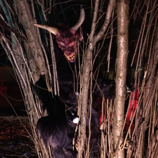 Krampus at the Hellbrun Palace Christmas Market