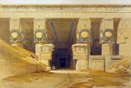 Dendera Temple, David Roberts (1840s)