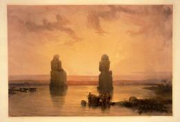 Colossus of Memnon, David Roberts (1840s)