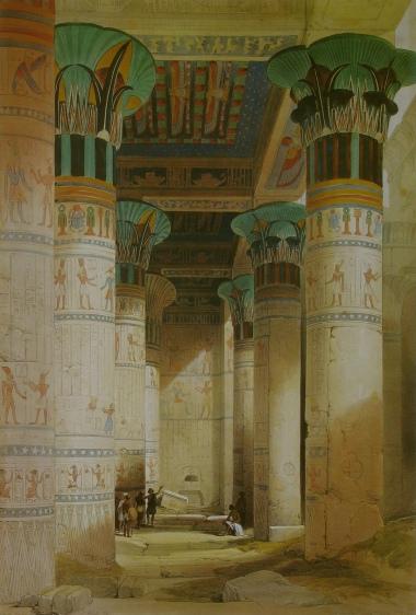 Philae Temple, David Roberts (1840s)